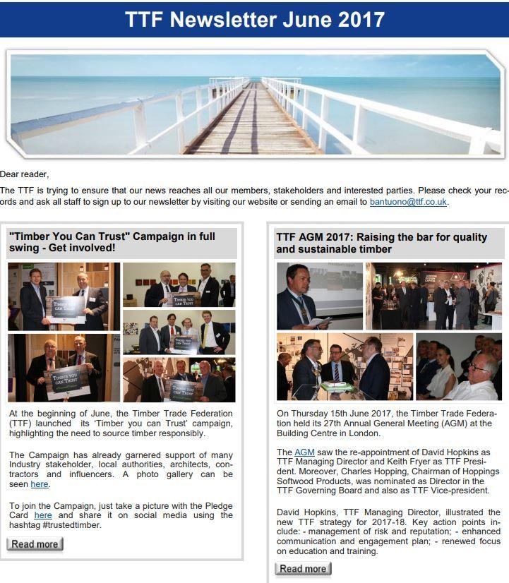 TTF Newsletter June 2017 - Timber Trade Federation