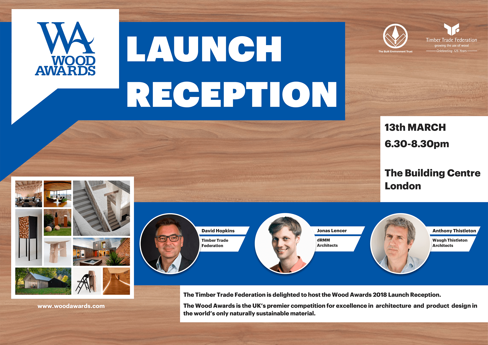 Wood Awards Launch 2018 leaflet