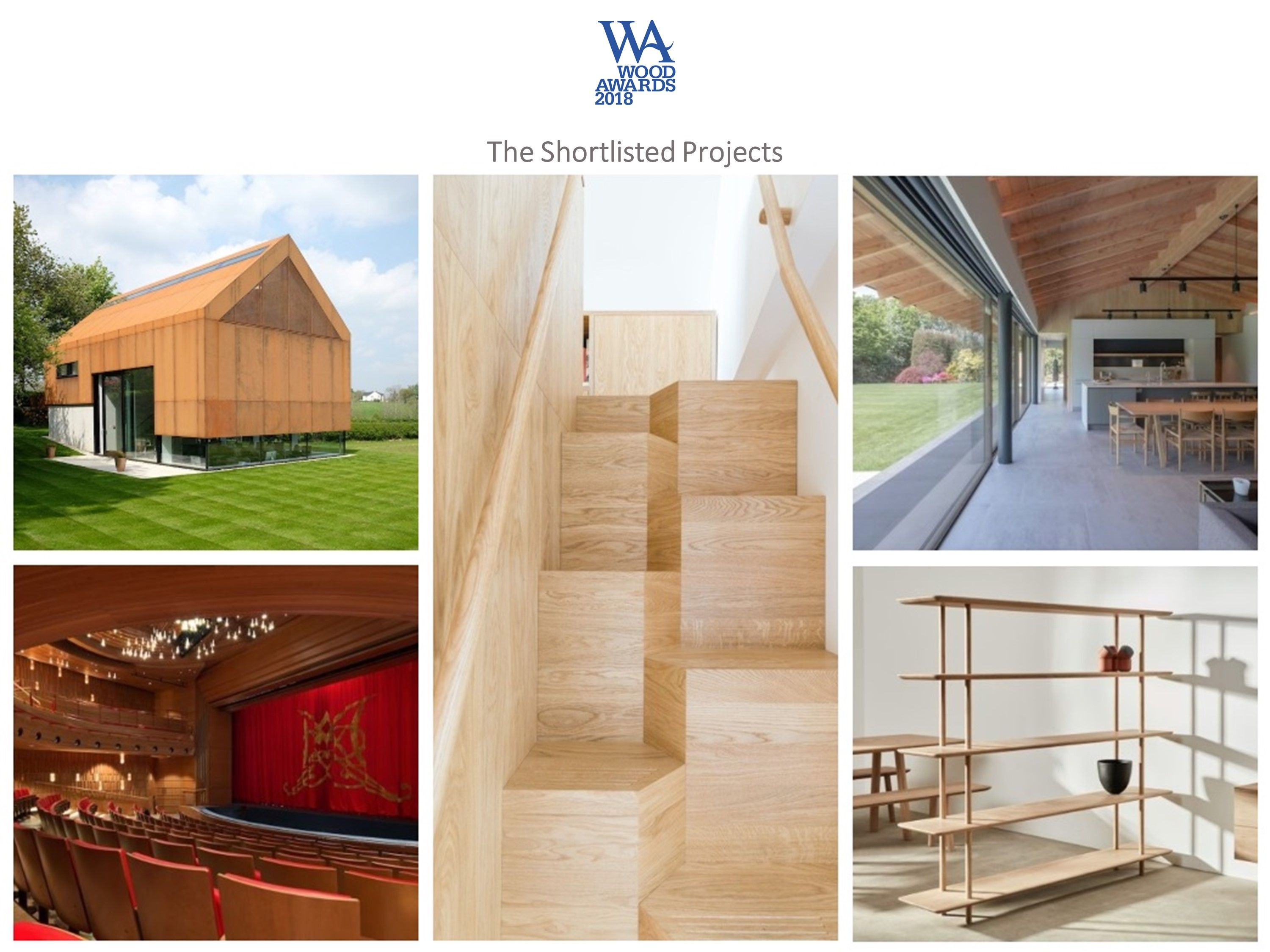 Wood Awards 2018 - Shortlisted projects