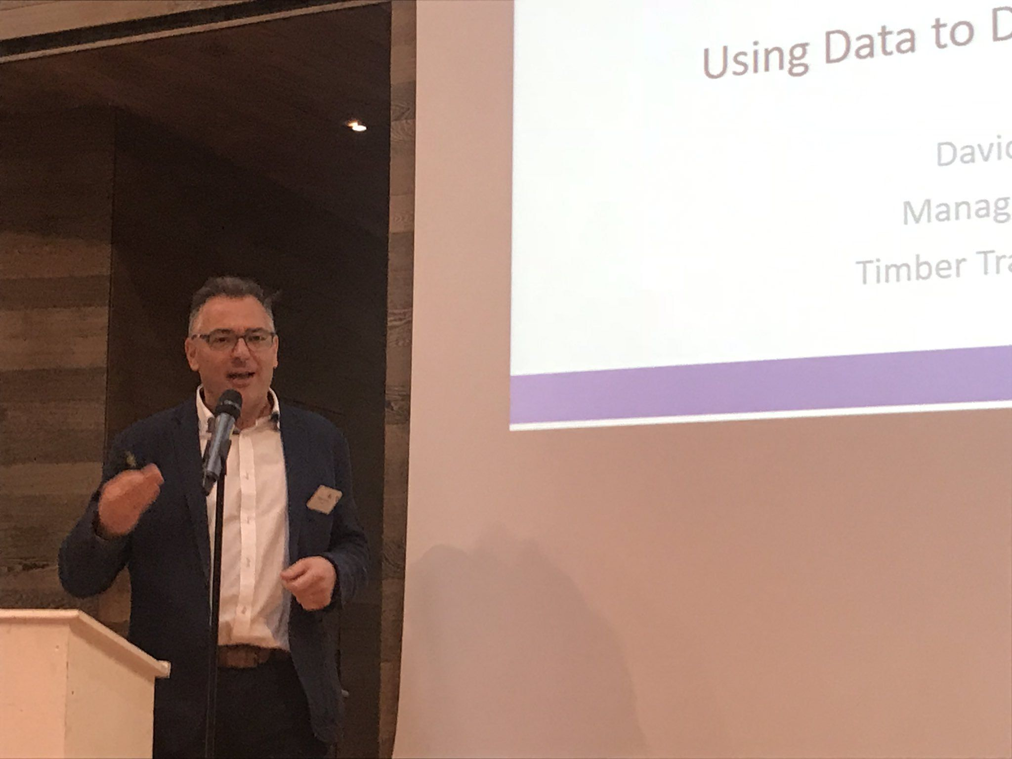 David Hopkins talking at STTC Conference in Paris