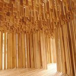 American tulipwood pavilion showcased at the Design Museum as part of David Adjaye: Making Memory