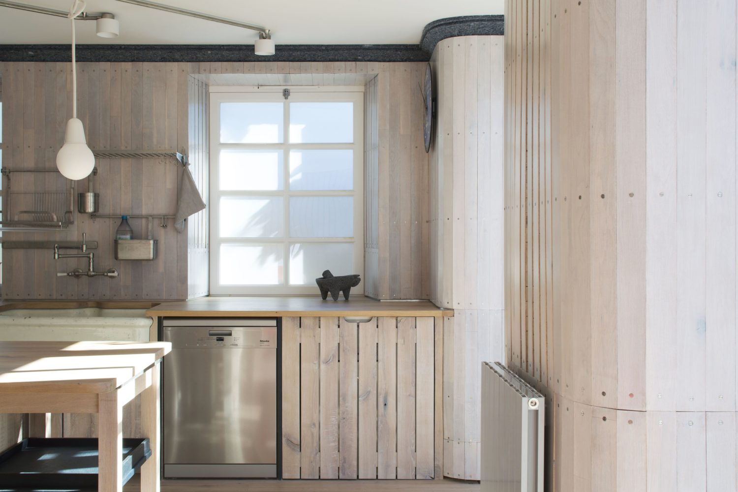arboreal architecture-reuse flat-timberworks-Kitchen cabinetry