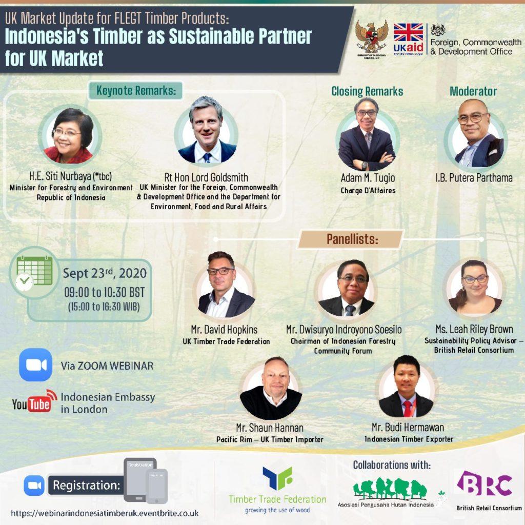 Indonesian Embassy : FLEGT Timber Webinar