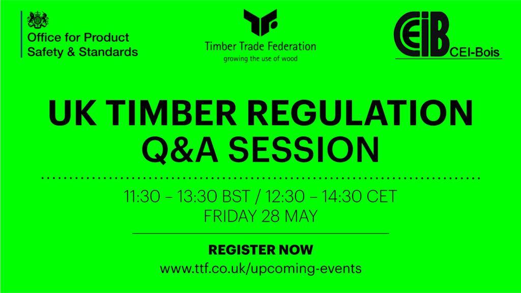 Webinar: UK Timber Regulation Q & A session